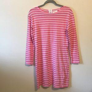 Sail to Sable Pink Nautica Stripe Knit Dress Sz S